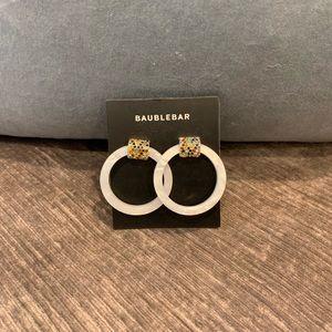 BaubleBar Resin Hoop Earrings w/MultiColor Stones